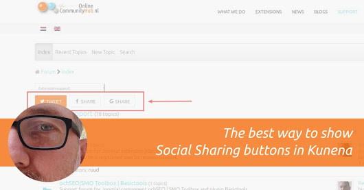 The best way to show Social Sharing buttons in Kunena