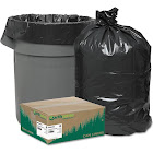 Earthsense Commercial Black Can Liners, 40-45 Gallon, 100 Count, Adult Unisex