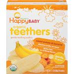 Happy Baby Organics Teething Wafers, Gentle, Organic Teethers, Sweet Potato & Banana, Sitting Baby - 12 pack, 0.14 oz packs
