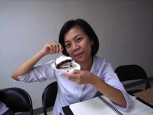 巧克力口味的蛋糕,我喜歡