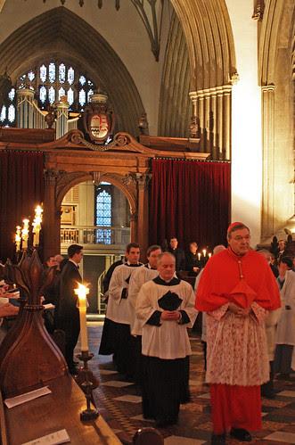 Cardinal Pell enters Merton College chapel