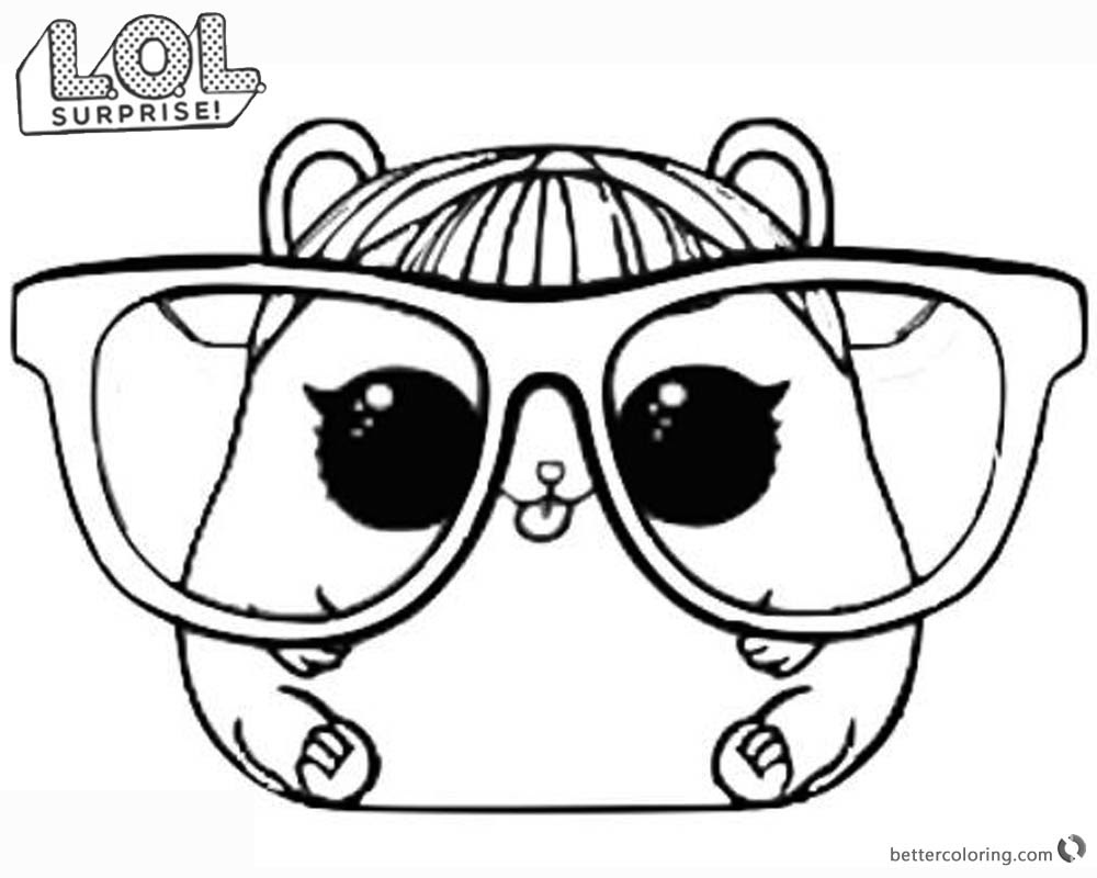 LOL Surprise Doll Coloring Pages Cherry Ham