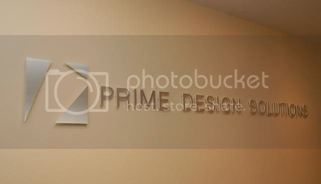 Metal lettering for Prime Design Solutions