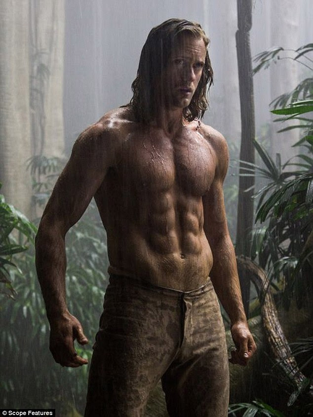 Jungle hunk:Alexander Skarsgard displays his impressive abs and muscular physique in the first look images forDavid Yates'The Legend Of Tarzan