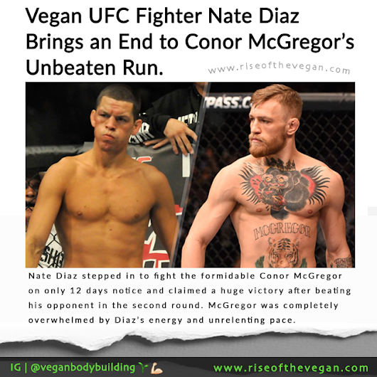 Vegan UFC Fighter Nate Diaz Beats Conor McGregor in Shock Victory
