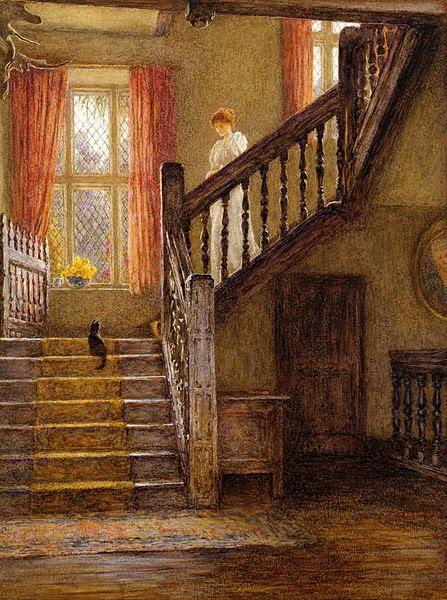 File:Helen Allingham - The Staircase, Whittington Court, Gloucestershire.jpg