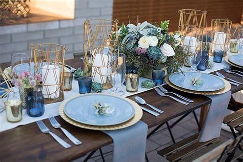 14 Geometric Wedding Table Decor Ideas ? the bohemian wedding