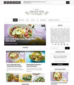 Food Blog Blogger Templates