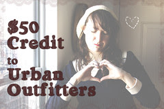 chantillysongs urban outfitters giveaway