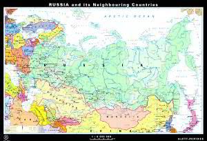 Russia And Neighboring Countries Map