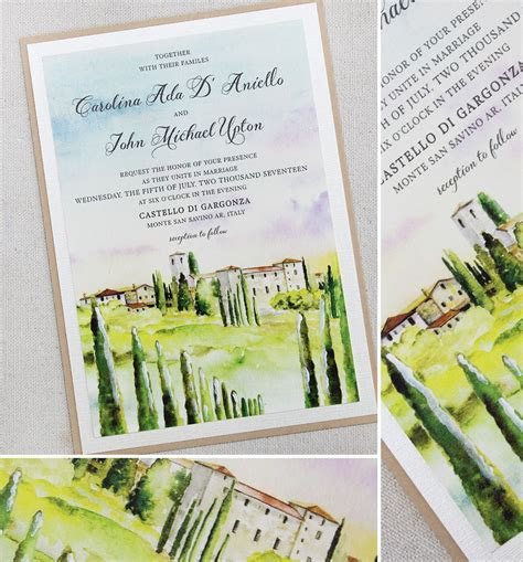 John U.   Tuscany Landscape Wedding InvitationMomental Designs