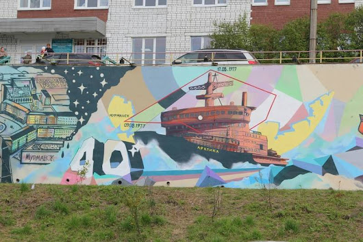 Artists Pay Tribute to Historic Russian Icebreaker