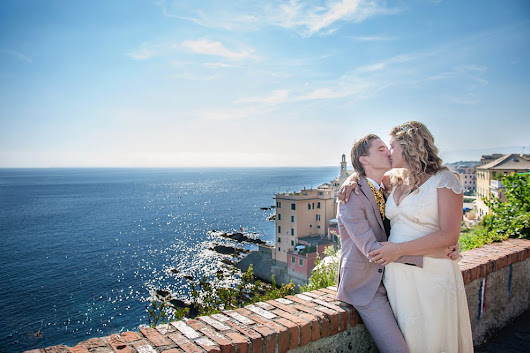 Boccadasse Wedding, Genova, Italy {Destination wedding photographer}