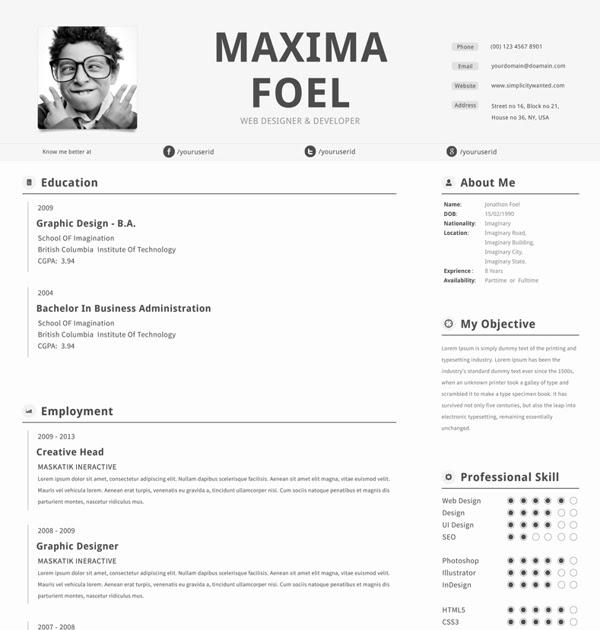 free resume template by fernando b?ez