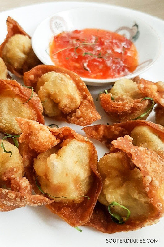 Chinese Fried Wonton Recipe with Kaffir Lime Leaves - Souper Diaries