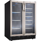 "Silhouette DBC2760BLS 27-Bottle Dual Zone Built-in French Door Wine and Beverage Cooler - 23.8"" - 5 cu ft - Stainless Steel"