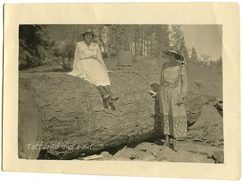 two ladies with a pine tree_tatteredandlost