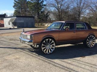 1984 4 Door Cutlass 5 500 Nashville Tn Big Rims Custom Wheels