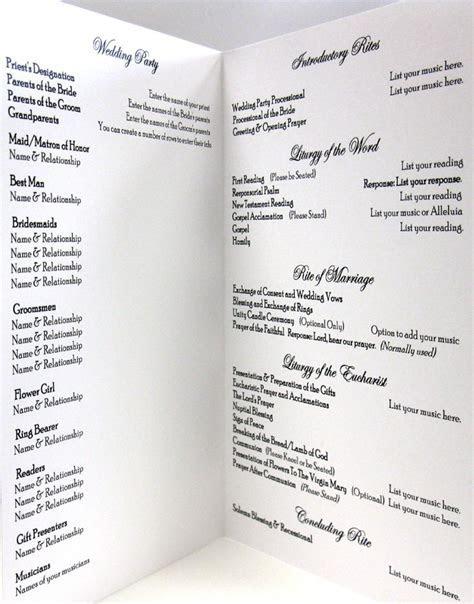 catholic wedding program idea, clean and simple layout