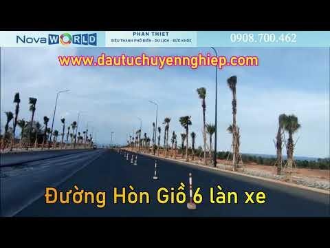 Đường Hòn Giồ 6 làn xe từ Nova World Phan Thiết lên Quốc lộ 1A