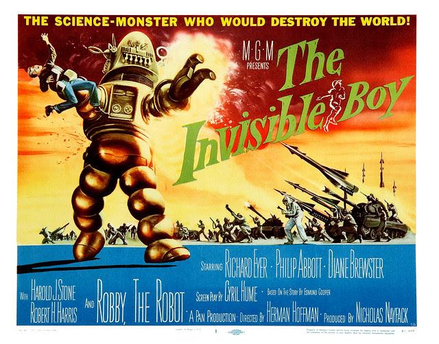 Reynold Brown - The Invisible Boy (MGM, 1957) half sheet