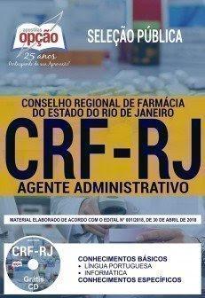 Apostila Seleção Pública CRF RJ 2018 | AGENTE ADMINISTRATIVO