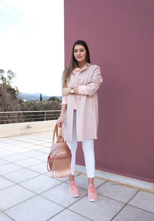 How to Style Pastel Colors in Winter + Pastel Pink Outfit - Sparkle and the City