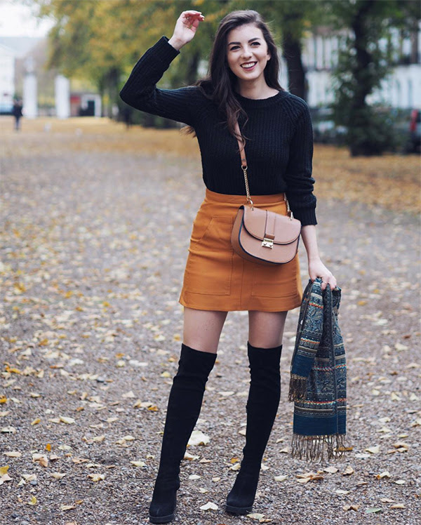 best outfits to wear with thighhigh overtheknee boots