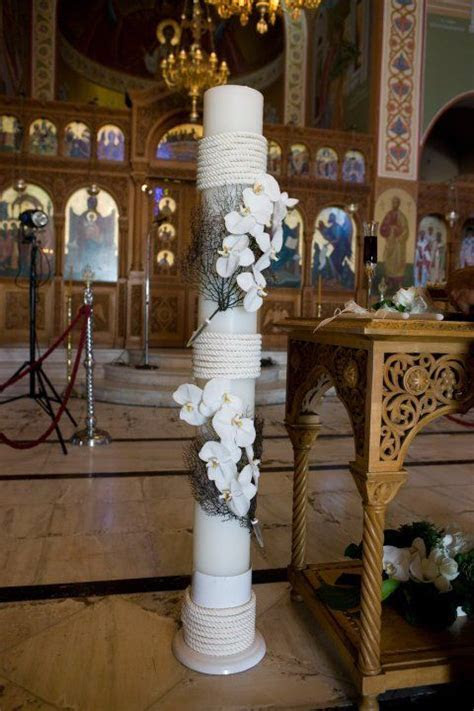 48 best Greek Orthodox Wedding Candles   Lambathes