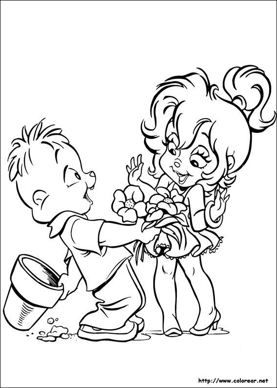 Dibujos Para Colorear De Alvin Y Las Ardillas