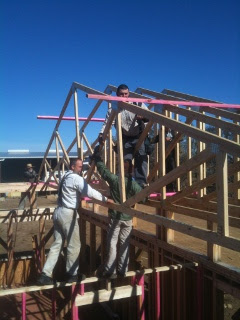 House Roof Truss in Position