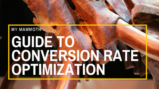 My Mammoth Guide to Conversion Rate Optimization - Paul Shapiro's Search Wilderness