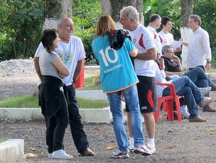 Patricia Amorim camisa Ronaldinho Flamengo (Foto: Janir Júnior / Globoesporte.com)