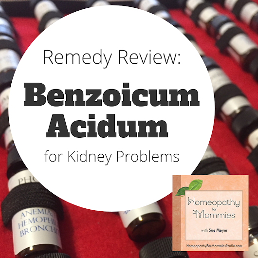 Remedy Review - Benzoicum Acidum for Kidney Problems - Ultimate Homeschool Radio Network