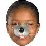 Morris Costumes FA-226 Nose Mouse with Elastic, Silver