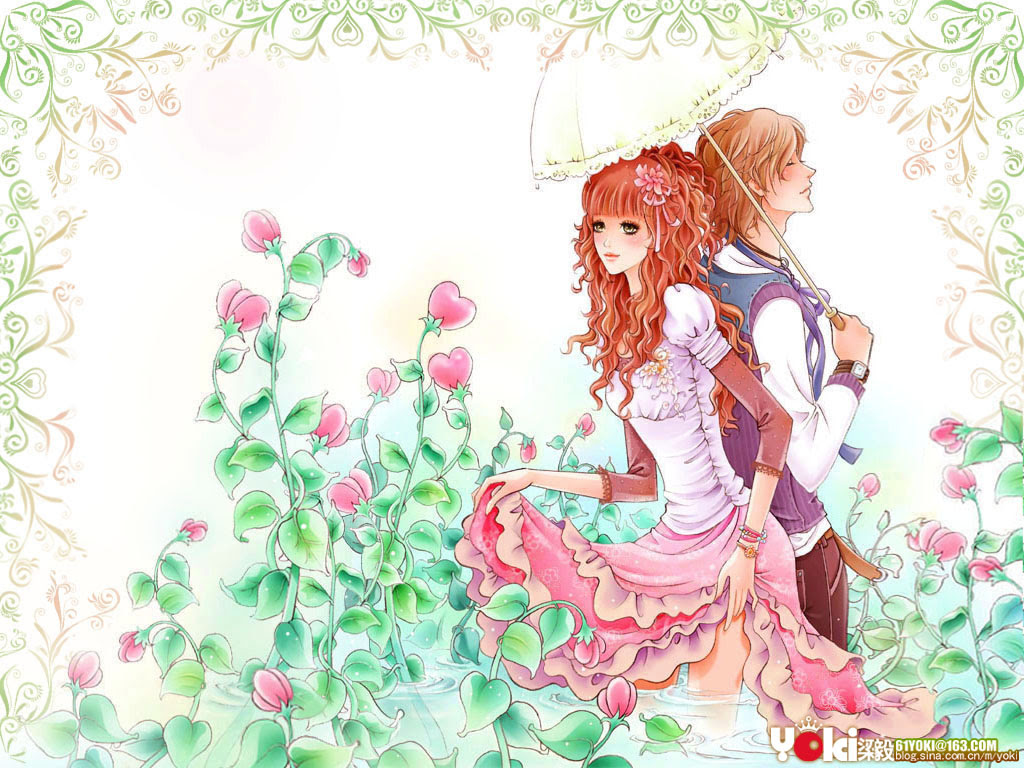Free Cute Cartoon Couple Wallpapers For Mobile Download Free Clip