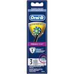 Oral-B CrossAction Electric Toothbrush Replacement Brush Head Refills, Black, 3 Count