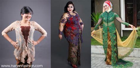 model baju kebaya modern  wanita gemuk