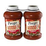 Prego Lower Sodium Traditional Italian Sauce, 67 oz, 2-Count