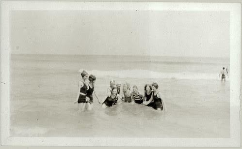 Ten on the beach
