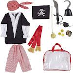 Blue Panda Kids Pirate Costume for Boys (13 Piece Set)