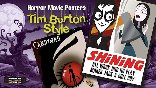 Horror Movie Posters, Tim Burton Style | Wholesale Halloween Costumes Blog