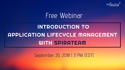 Free Webinar: Introduction to Application Lifecycle Management with SpiraTeam
