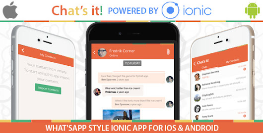 CodeCanyon - What's App Chat Clone v1.0 - An Ionic Framework, Socket.io and Nodejs Full Hybrid App | Free Source Code
