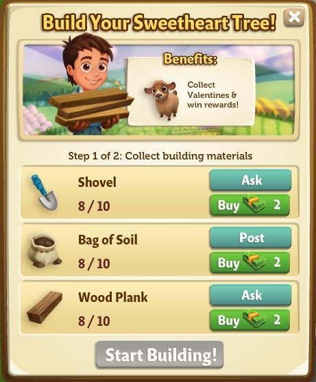 Sweetheart Tree - Build