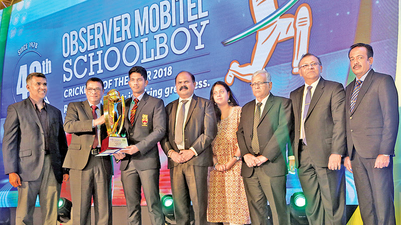 40th Observer Mobitel Schoolboy Cricketer of the Year awards
