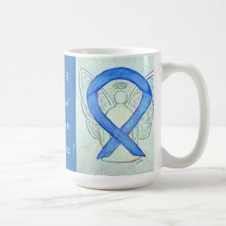 Education Awareness Ribbon Angel Custom Mug