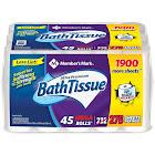 Member's Mark Ultra Premium Bath Tissue 2 Ply Mega Roll 275 Sheets 45 Rolls