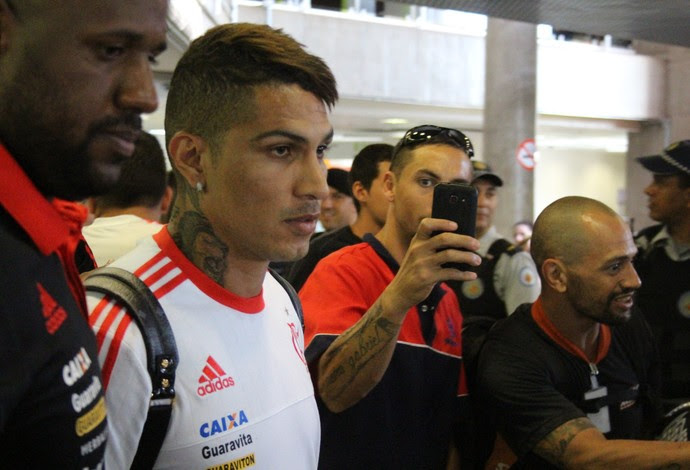 Guerrero, Desembarque, Brasília, Flamengo (Foto: Lucas Magalhães)