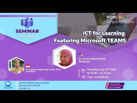 ICT for Learning Featuring Microsoft TEAMS